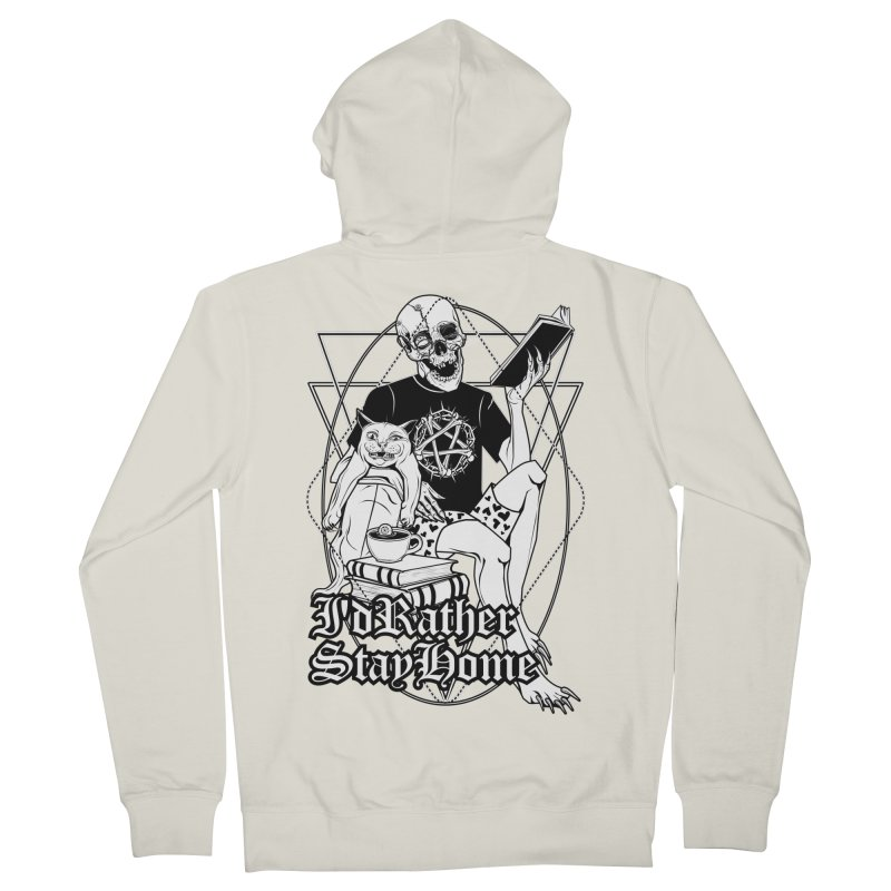 I'd rather stay home Men's French Terry Zip-Up Hoody by von Kowen's Shop
