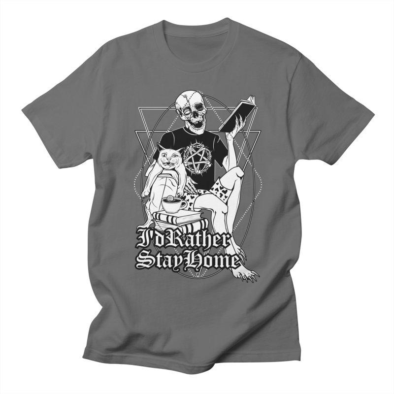 I'd rather stay home Men's Regular T-Shirt by von Kowen's Shop