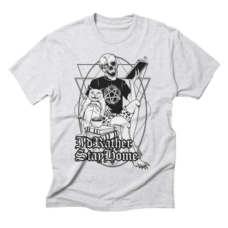 I'd rather stay home Men's Triblend T-Shirt by von Kowen's Shop