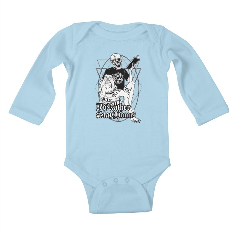 I'd rather stay home Kids Baby Longsleeve Bodysuit by von Kowen's Shop