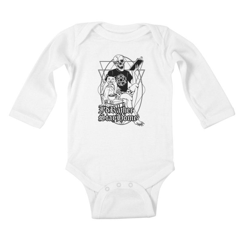 I'd rather stay home Kids Baby Longsleeve Bodysuit by von Kowen's Shop