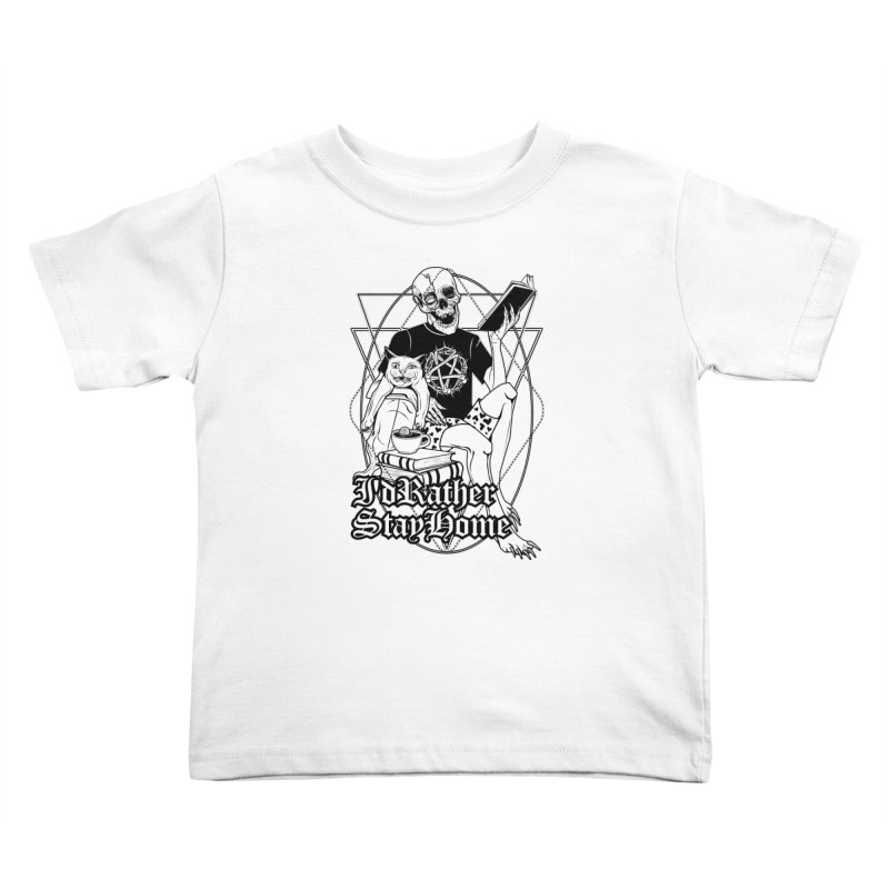 I'd rather stay home Kids Toddler T-Shirt by von Kowen's Shop
