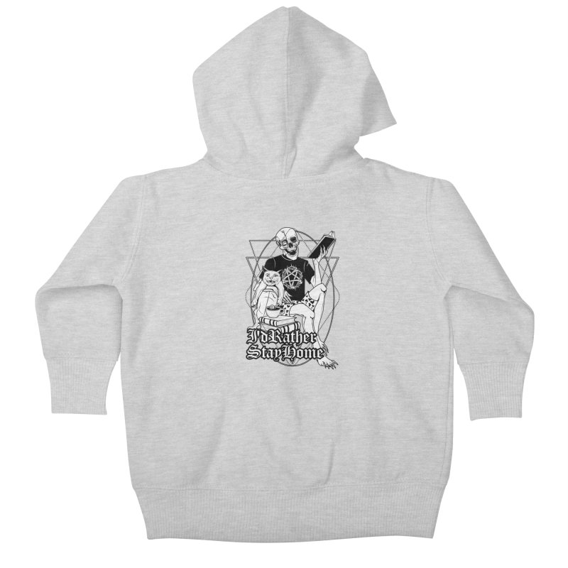 I'd rather stay home Kids Baby Zip-Up Hoody by von Kowen's Shop