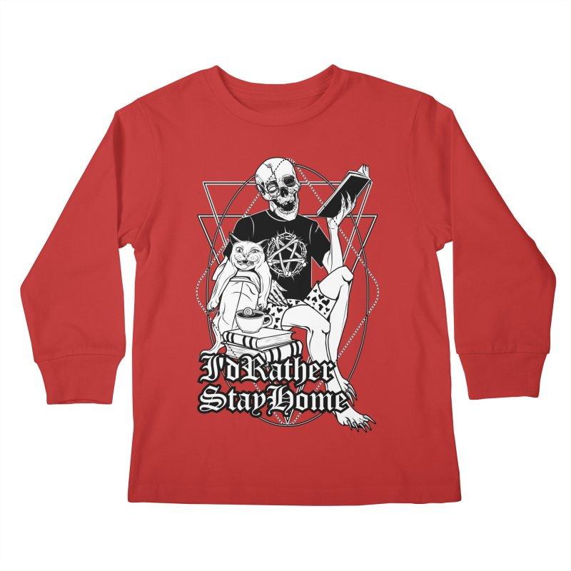 I'd rather stay home Kids Longsleeve T-Shirt by von Kowen's Shop