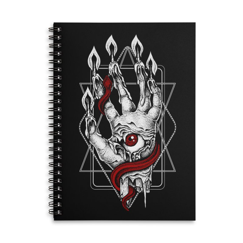 Hand of Glory Accessories Lined Spiral Notebook by von Kowen's Shop