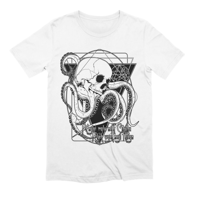 In his house at R'lyeh dead Cthulhu waits dreaming Men's Extra Soft T-Shirt by von Kowen's Shop