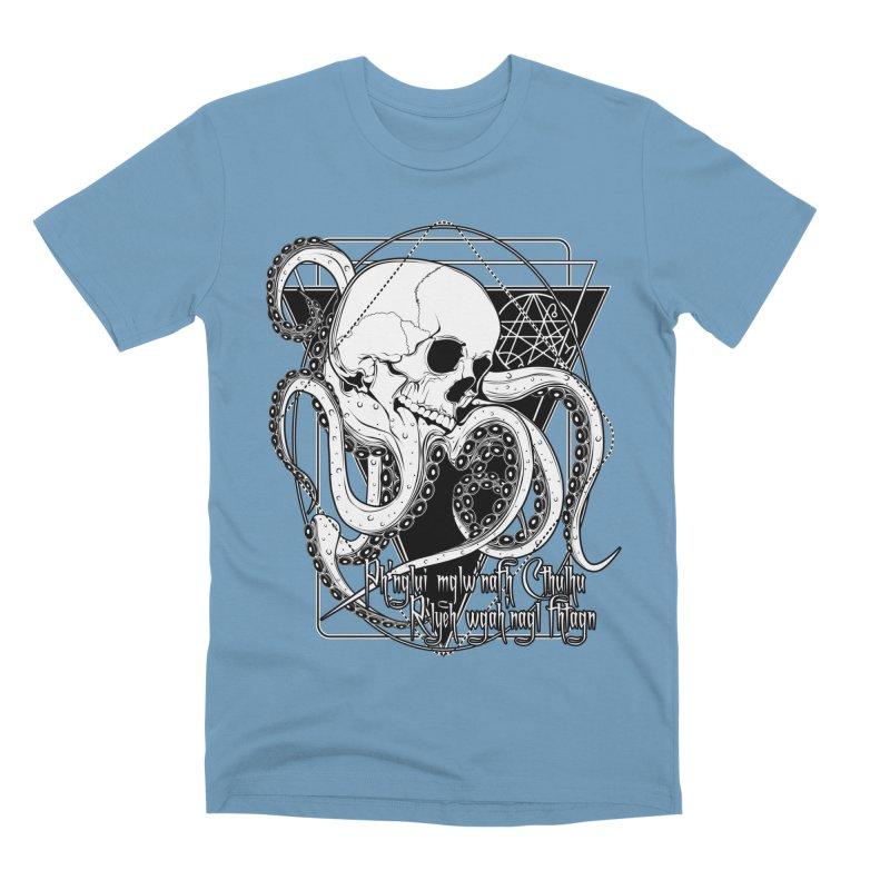 In his house at R'lyeh dead Cthulhu waits dreaming Men's Premium T-Shirt by von Kowen's Shop
