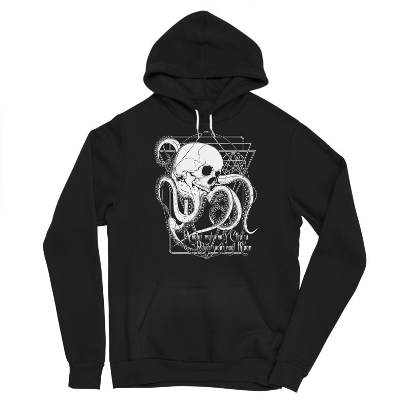 In his house at R'lyeh dead Cthulhu waits dreaming Men's Sponge Fleece Pullover Hoody by von Kowen's Shop