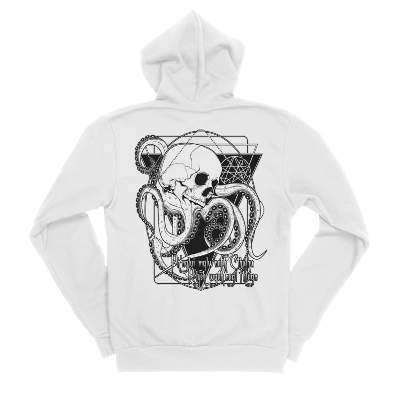 In his house at R'lyeh dead Cthulhu waits dreaming Men's Sponge Fleece Zip-Up Hoody by von Kowen's Shop