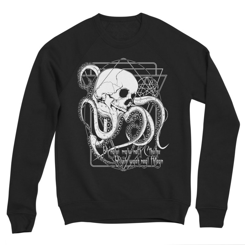 In his house at R'lyeh dead Cthulhu waits dreaming Women's Sponge Fleece Sweatshirt by von Kowen's Shop