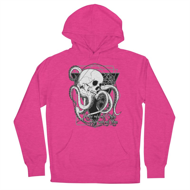 In his house at R'lyeh dead Cthulhu waits dreaming Women's French Terry Pullover Hoody by von Kowen's Shop