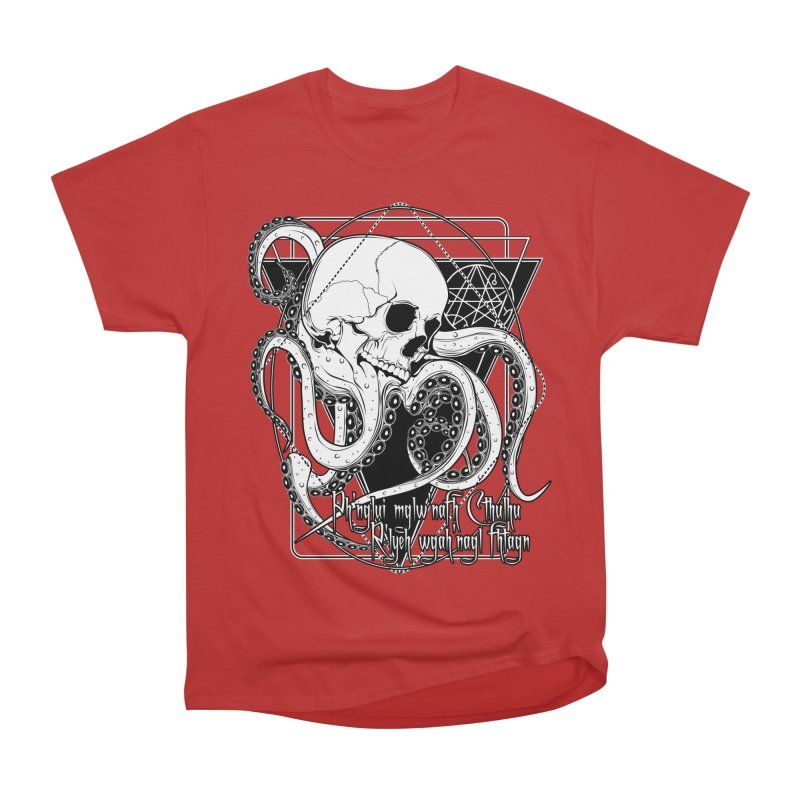 In his house at R'lyeh dead Cthulhu waits dreaming Men's Heavyweight T-Shirt by von Kowen's Shop
