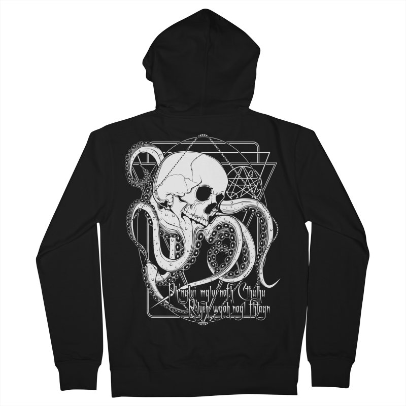 In his house at R'lyeh dead Cthulhu waits dreaming Men's French Terry Zip-Up Hoody by von Kowen's Shop