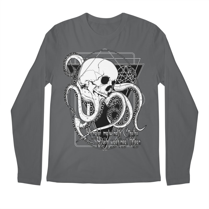 In his house at R'lyeh dead Cthulhu waits dreaming Men's Longsleeve T-Shirt by von Kowen's Shop
