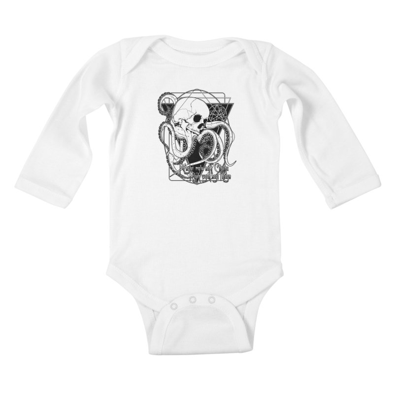 In his house at R'lyeh dead Cthulhu waits dreaming Kids Baby Longsleeve Bodysuit by von Kowen's Shop