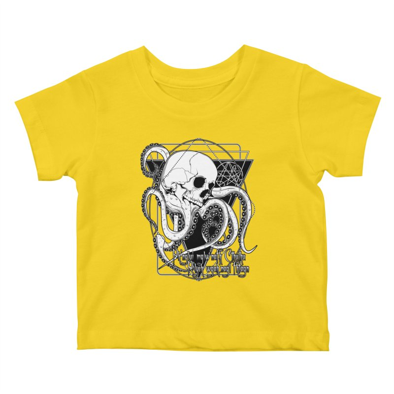 In his house at R'lyeh dead Cthulhu waits dreaming Kids Baby T-Shirt by von Kowen's Shop
