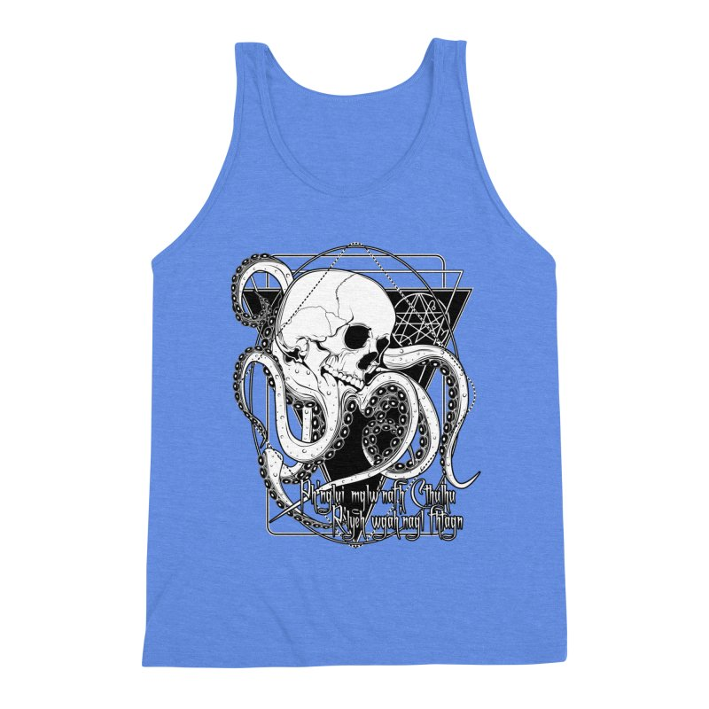 In his house at R'lyeh dead Cthulhu waits dreaming Men's Triblend Tank by von Kowen's Shop