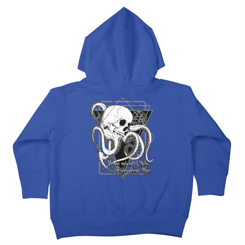 In his house at R'lyeh dead Cthulhu waits dreaming Kids Toddler Zip-Up Hoody by von Kowen's Shop