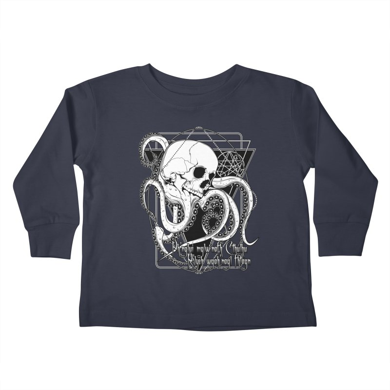 In his house at R'lyeh dead Cthulhu waits dreaming Kids Toddler Longsleeve T-Shirt by von Kowen's Shop