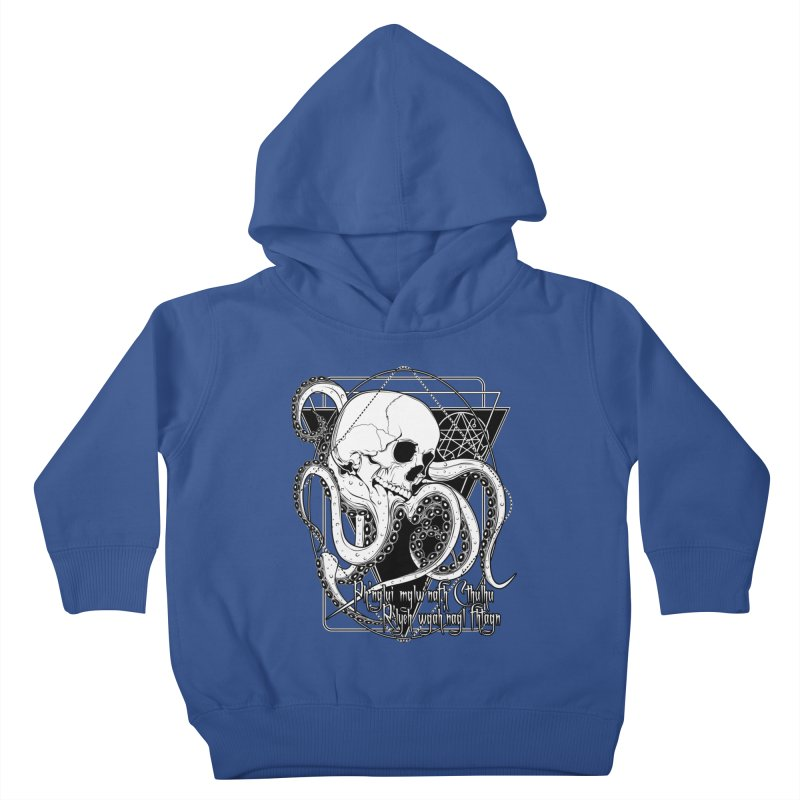 In his house at R'lyeh dead Cthulhu waits dreaming Kids Toddler Pullover Hoody by von Kowen's Shop