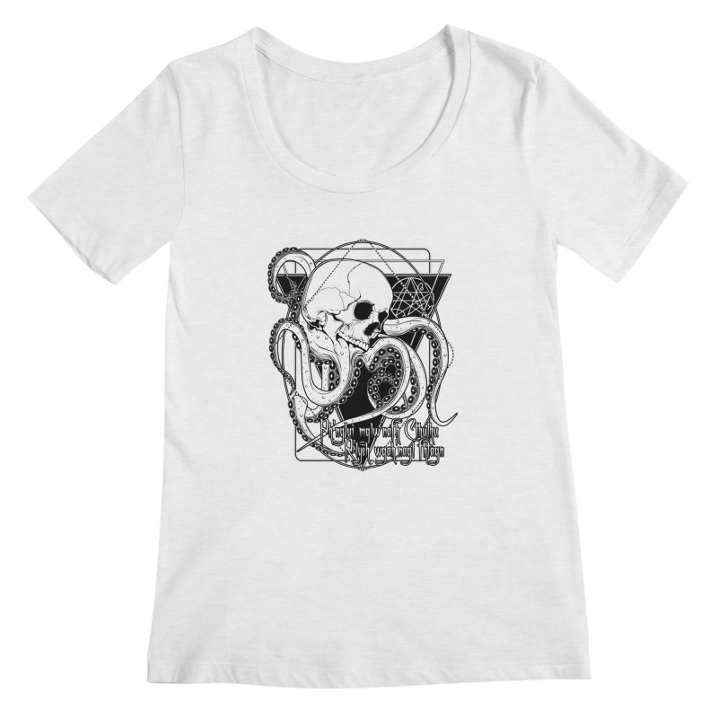 In his house at R'lyeh dead Cthulhu waits dreaming Women's Regular Scoop Neck by von Kowen's Shop
