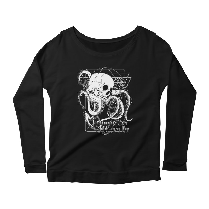 In his house at R'lyeh dead Cthulhu waits dreaming Women's Scoop Neck Longsleeve T-Shirt by von Kowen's Shop