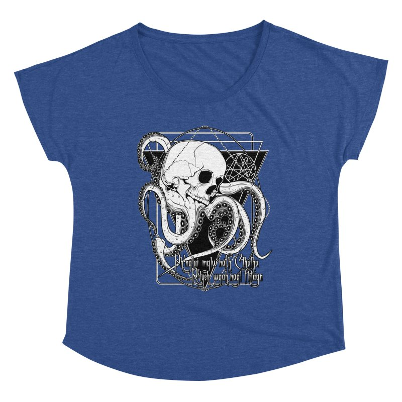 In his house at R'lyeh dead Cthulhu waits dreaming Women's Dolman Scoop Neck by von Kowen's Shop