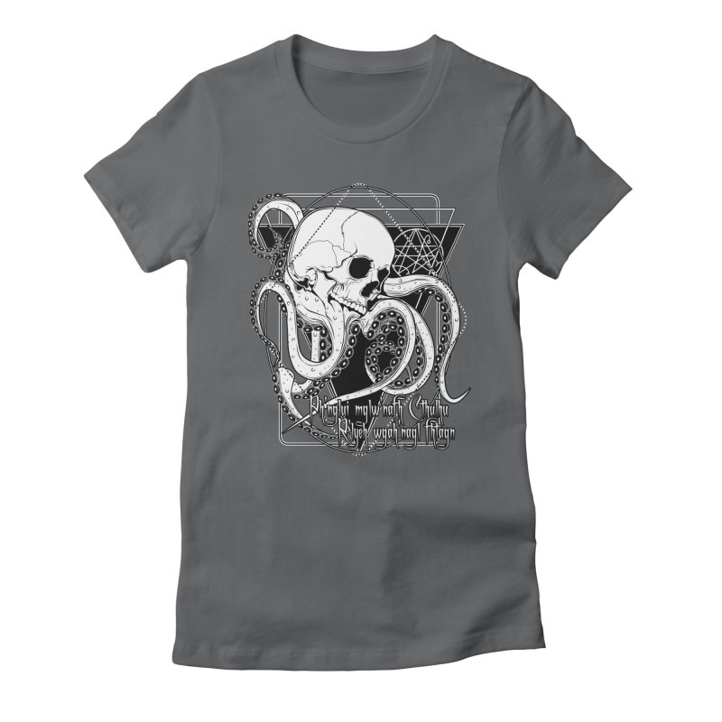In his house at R'lyeh dead Cthulhu waits dreaming Women's Fitted T-Shirt by von Kowen's Shop