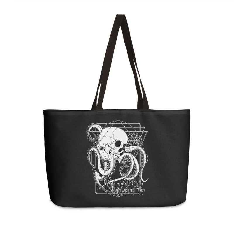 In his house at R'lyeh dead Cthulhu waits dreaming Accessories Weekender Bag Bag by von Kowen's Shop
