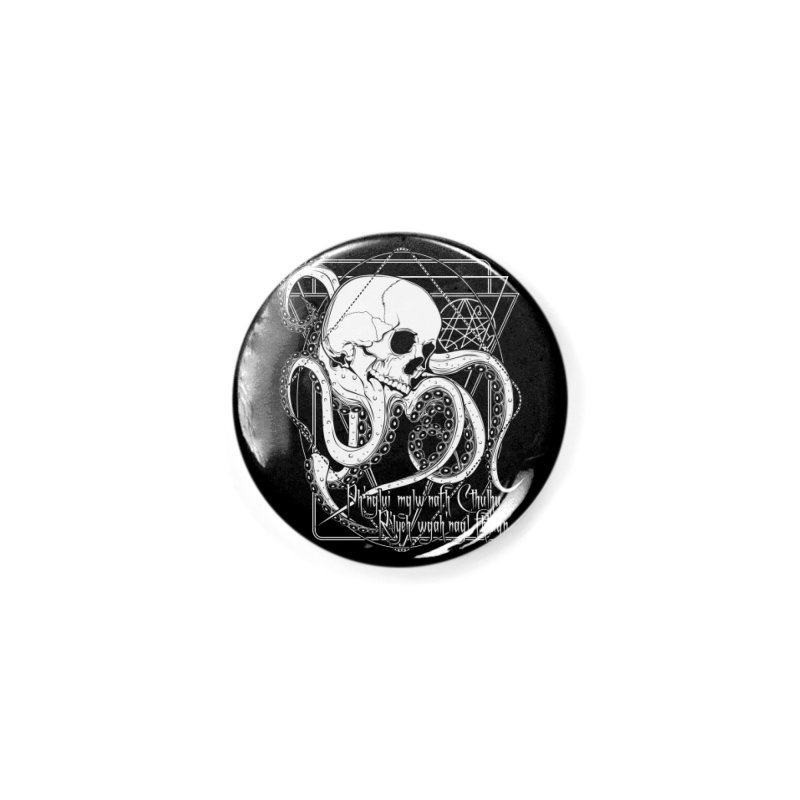 In his house at R'lyeh dead Cthulhu waits dreaming Accessories Button by von Kowen's Shop