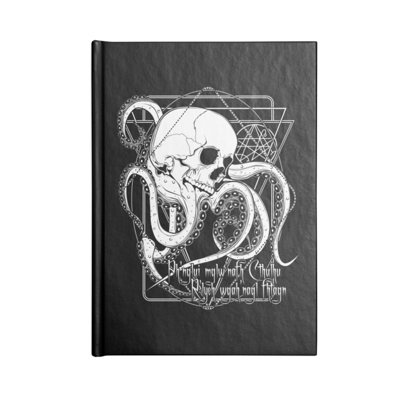 In his house at R'lyeh dead Cthulhu waits dreaming Accessories Lined Journal Notebook by von Kowen's Shop
