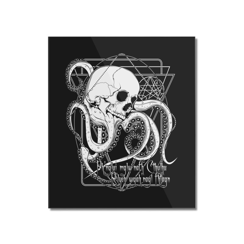 In his house at R'lyeh dead Cthulhu waits dreaming Home Mounted Acrylic Print by von Kowen's Shop