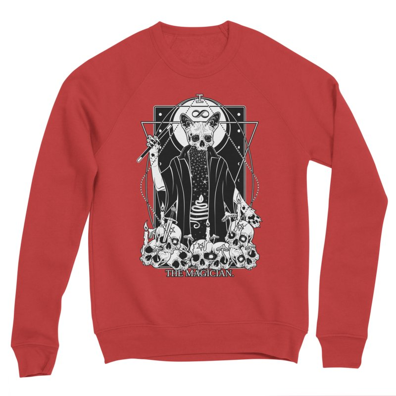 The Magician tarot card Women's Sponge Fleece Sweatshirt by von Kowen's Shop