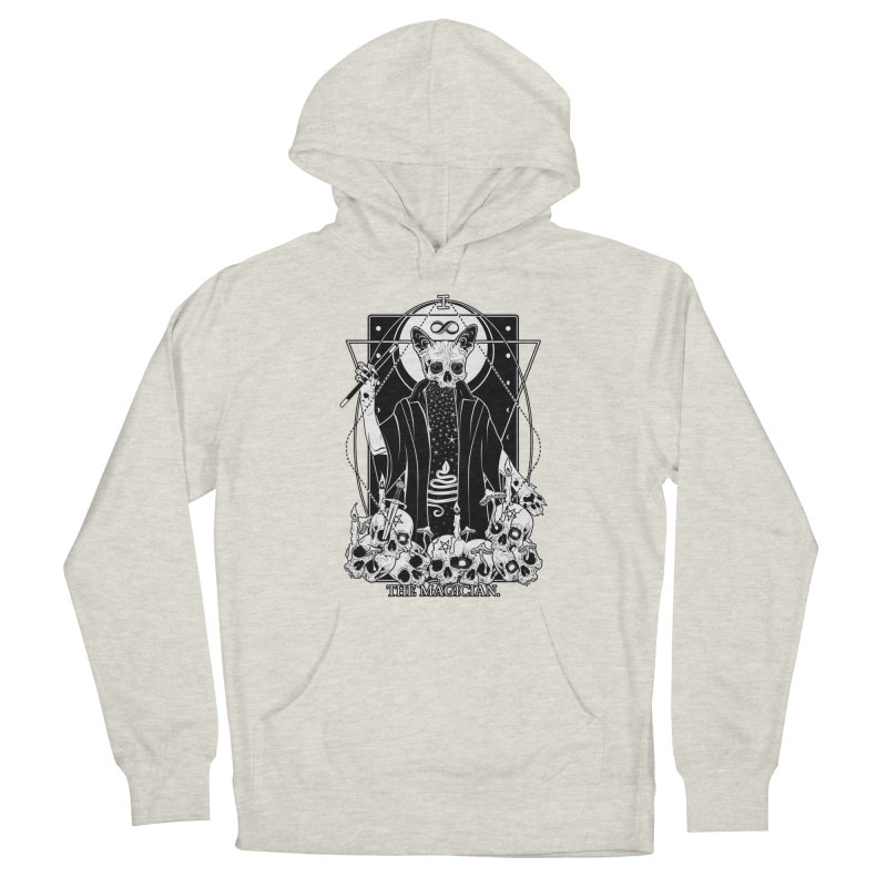 The Magician tarot card Men's French Terry Pullover Hoody by von Kowen's Shop