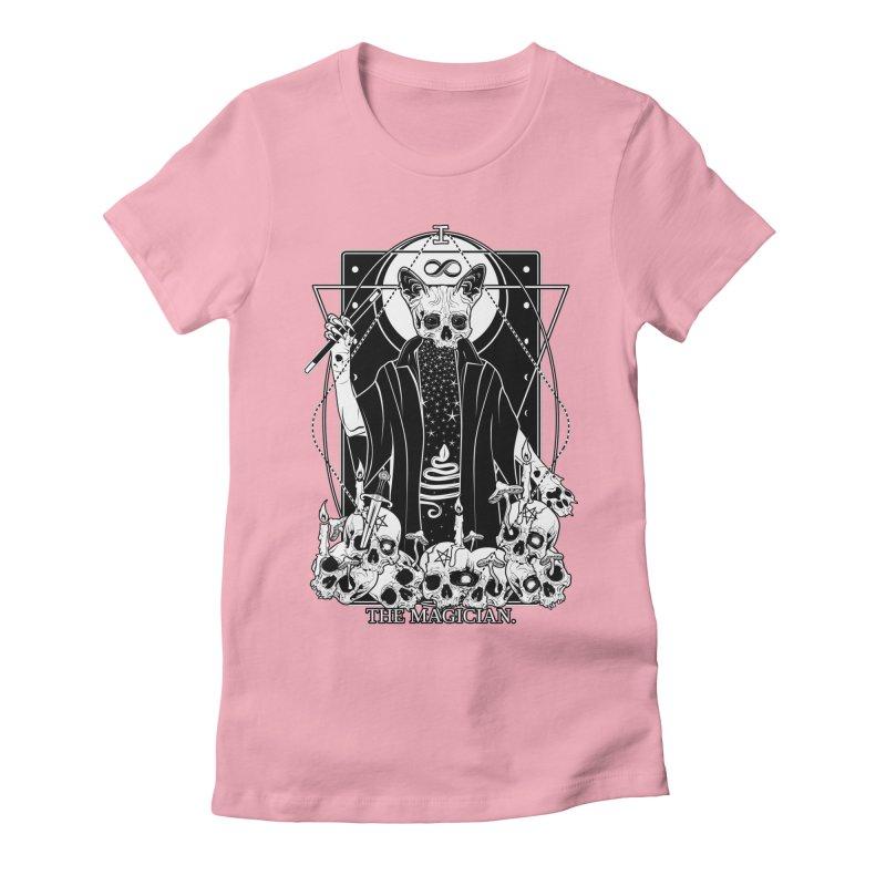 The Magician tarot card Women's Fitted T-Shirt by von Kowen's Shop