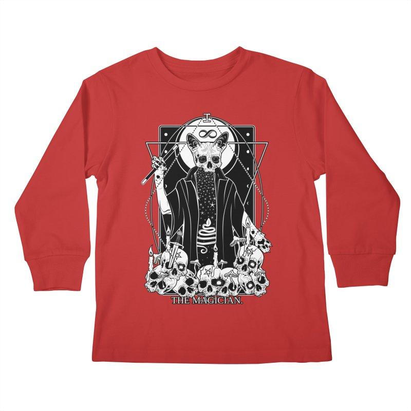 The Magician tarot card Kids Longsleeve T-Shirt by von Kowen's Shop