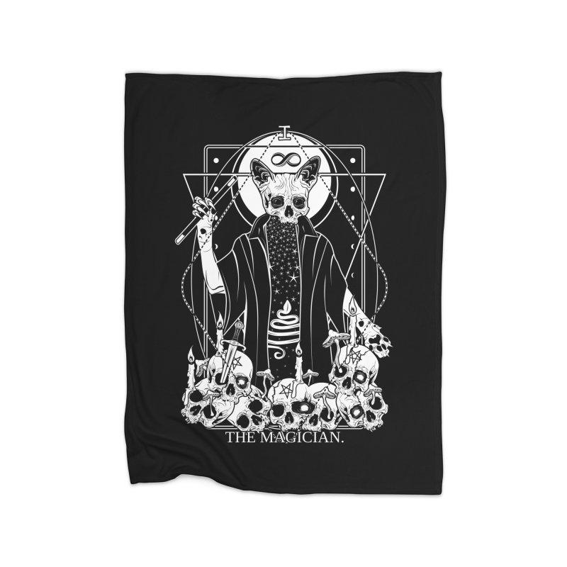 The Magician tarot card Home Fleece Blanket Blanket by von Kowen's Shop