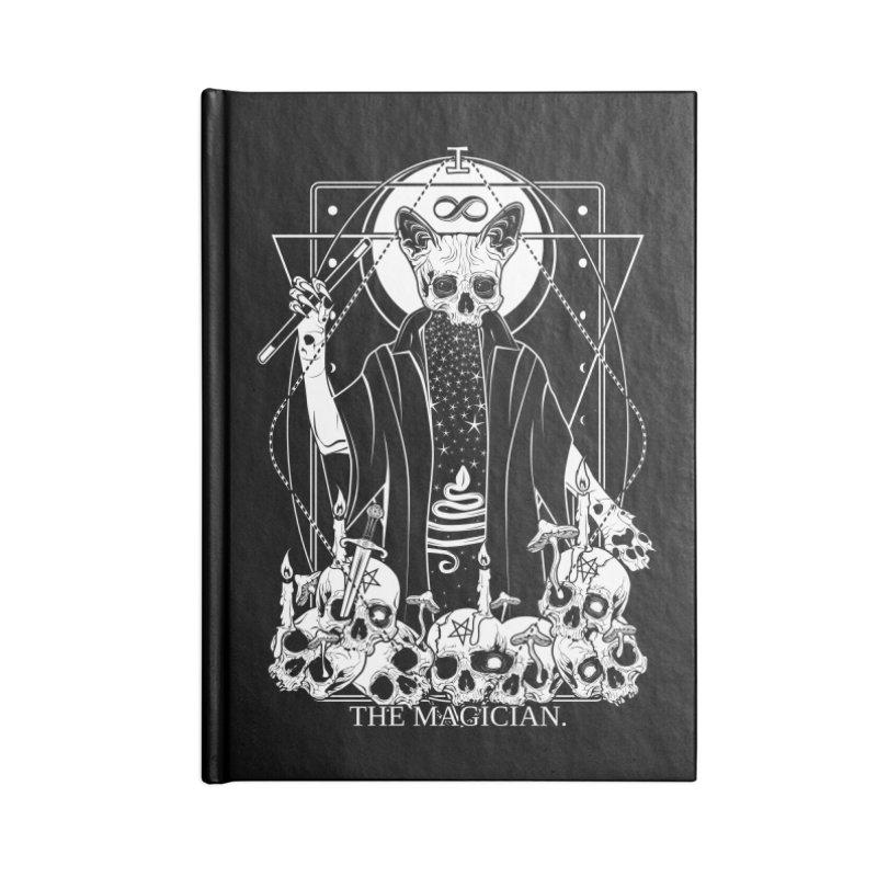 The Magician tarot card Accessories Lined Journal Notebook by von Kowen's Shop