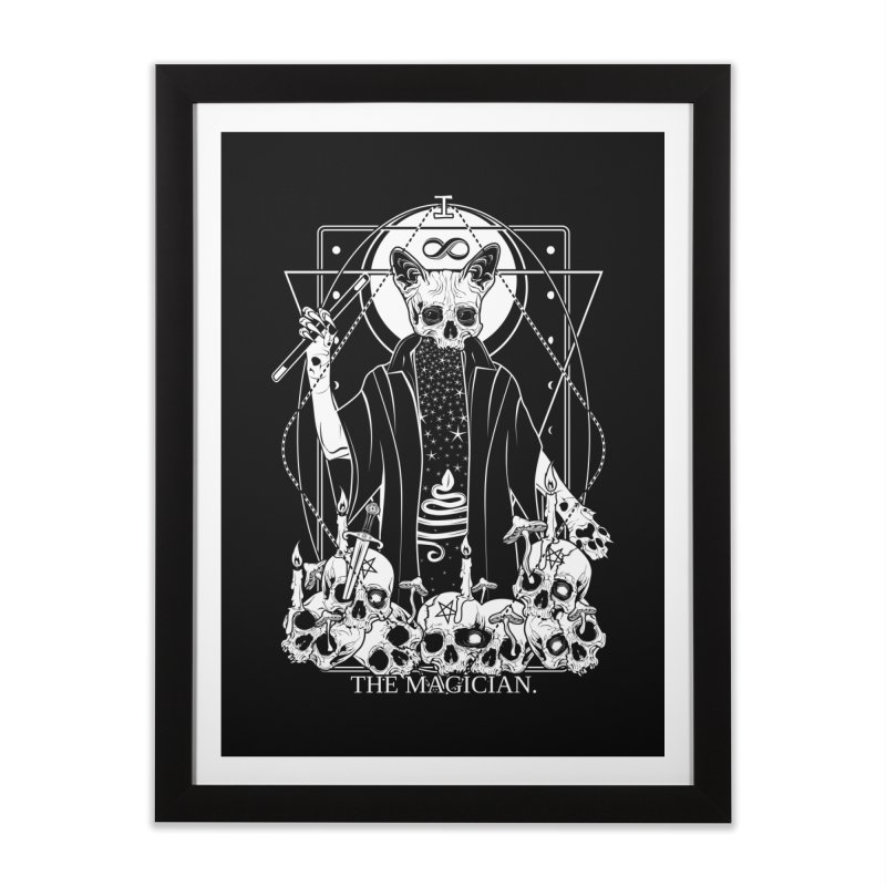 The Magician tarot card Home Framed Fine Art Print by von Kowen's Shop