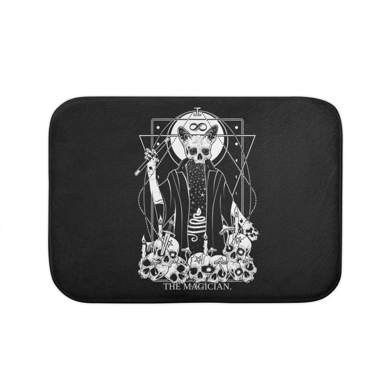 The Magician tarot card Home Bath Mat by von Kowen's Shop