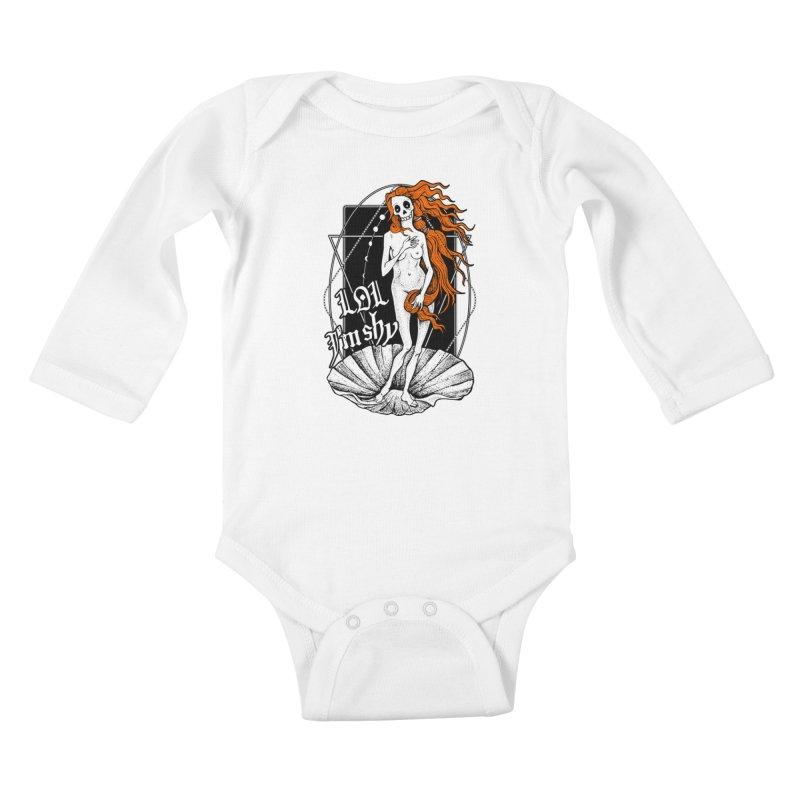 The Birth of Venus / LOL I'm Shy Kids Baby Longsleeve Bodysuit by von Kowen's Shop