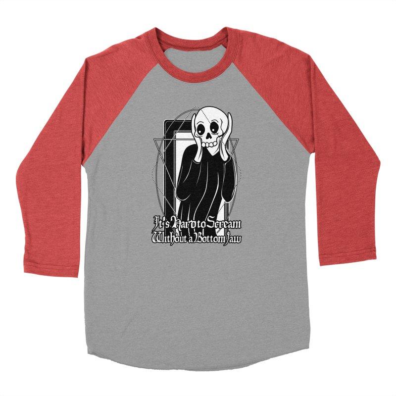 It's Hard to Scream Without a Bottom Jaw Men's Baseball Triblend Longsleeve T-Shirt by von Kowen's Shop
