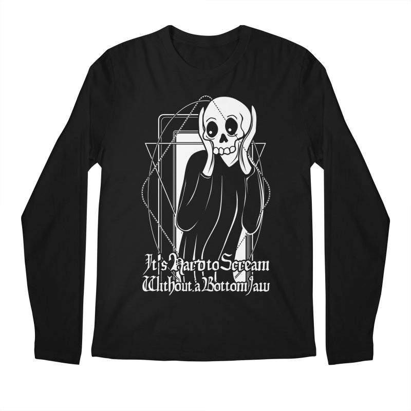 It's Hard to Scream Without a Bottom Jaw Men's Regular Longsleeve T-Shirt by von Kowen's Shop