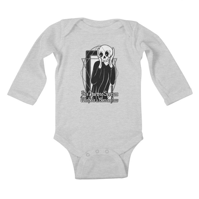It's Hard to Scream Without a Bottom Jaw Kids Baby Longsleeve Bodysuit by von Kowen's Shop