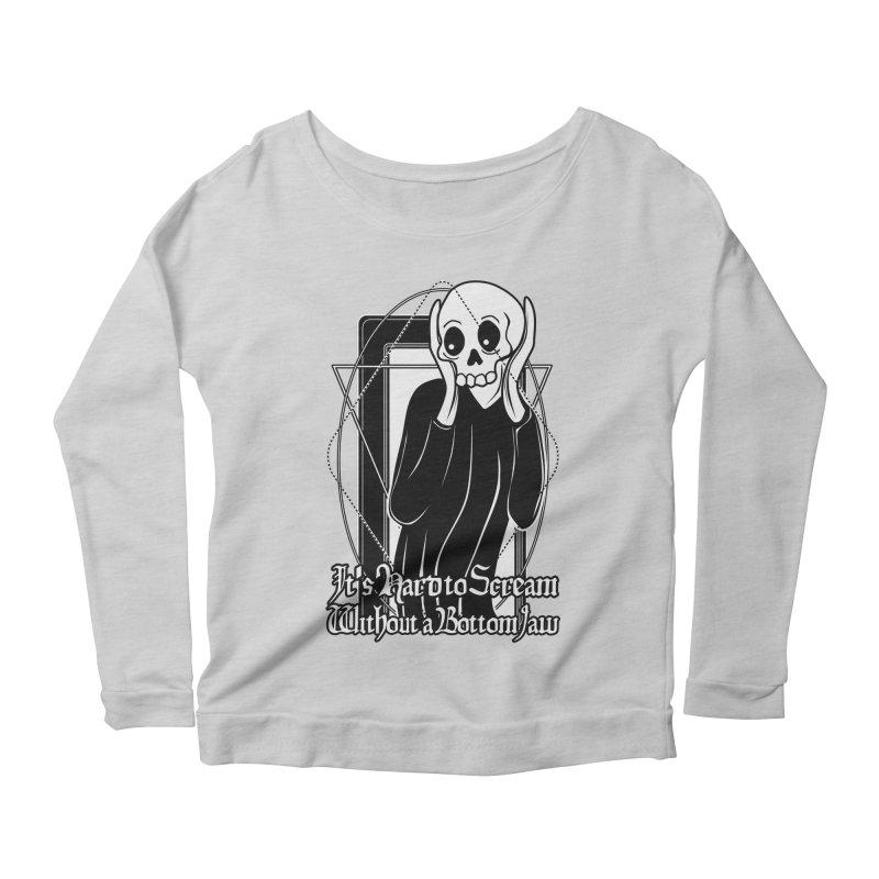 It's Hard to Scream Without a Bottom Jaw Women's Scoop Neck Longsleeve T-Shirt by von Kowen's Shop