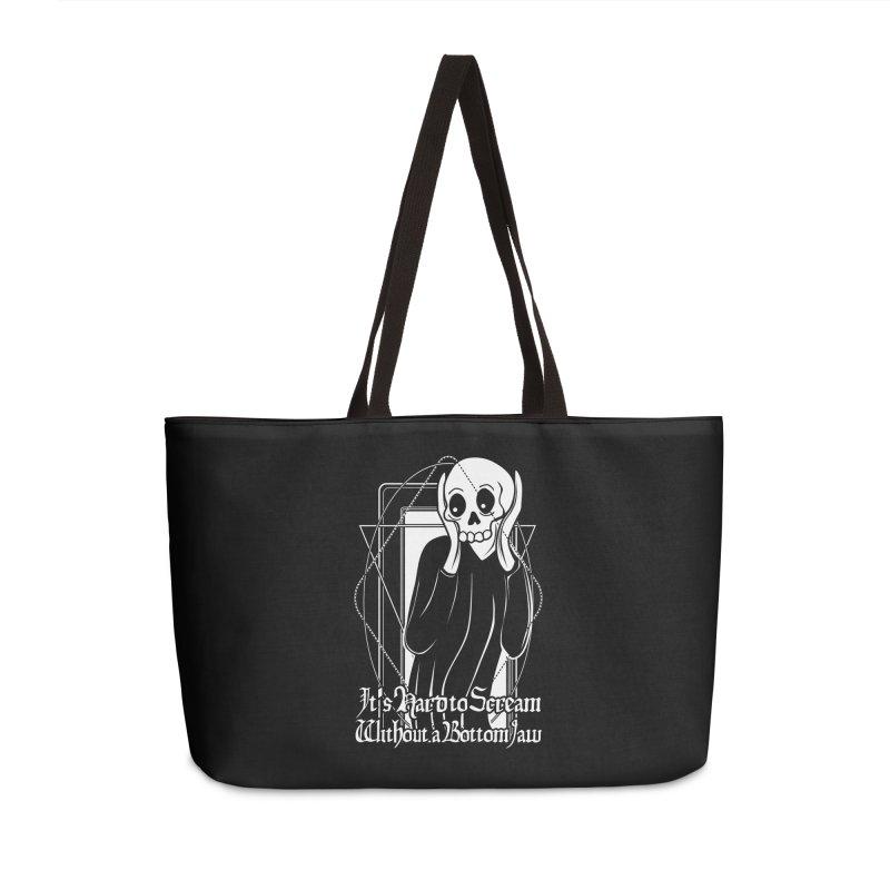 It's Hard to Scream Without a Bottom Jaw Accessories Weekender Bag Bag by von Kowen's Shop