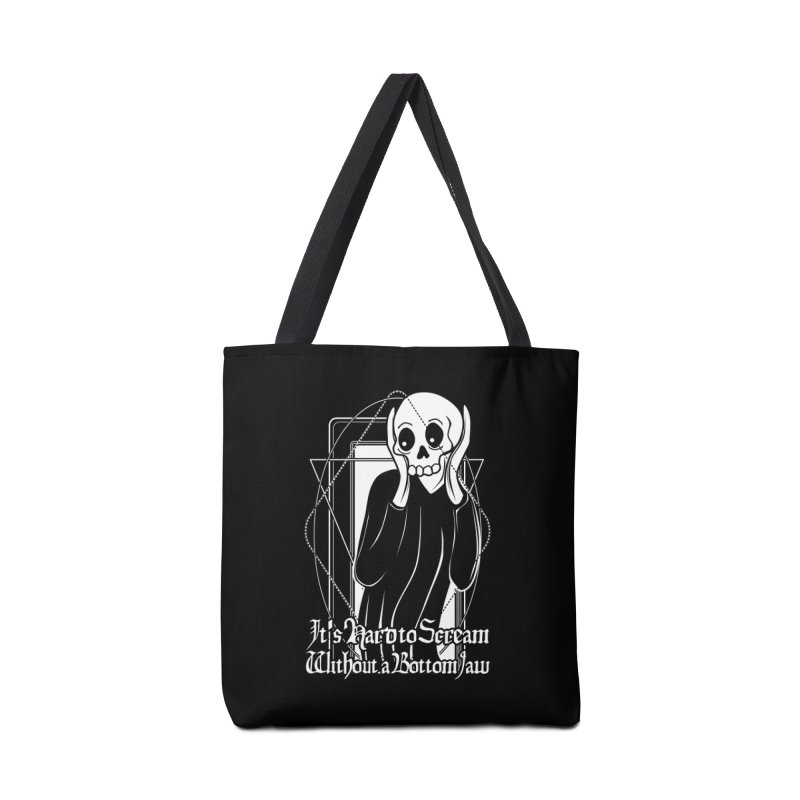 It's Hard to Scream Without a Bottom Jaw Accessories Tote Bag Bag by von Kowen's Shop