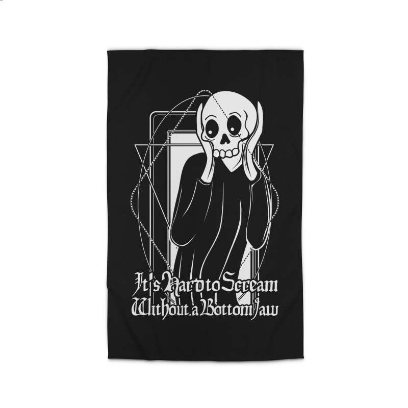 It's Hard to Scream Without a Bottom Jaw Home Rug by von Kowen's Shop