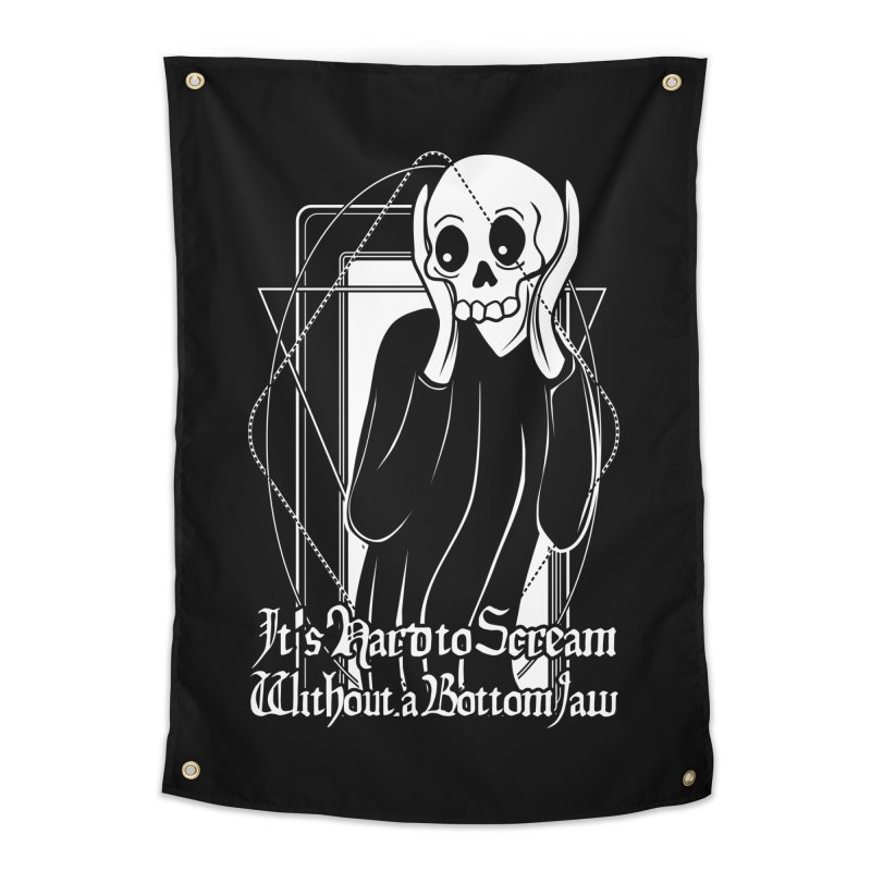 It's Hard to Scream Without a Bottom Jaw Home Tapestry by von Kowen's Shop