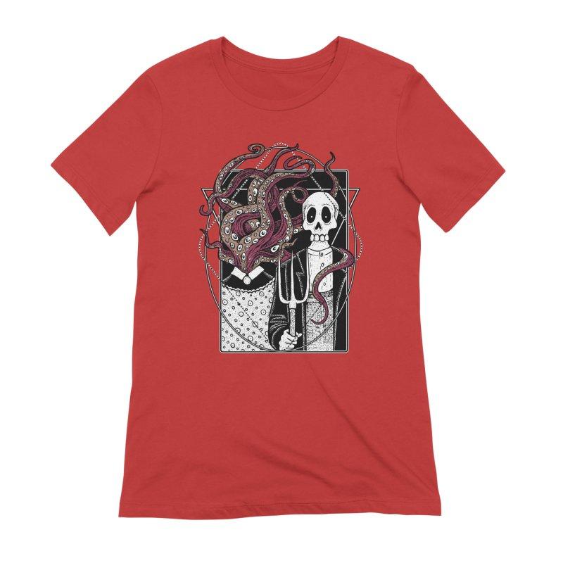 R'yleh Gothic - a tribute to Ameriacan Gothic Women's Extra Soft T-Shirt by von Kowen's Shop